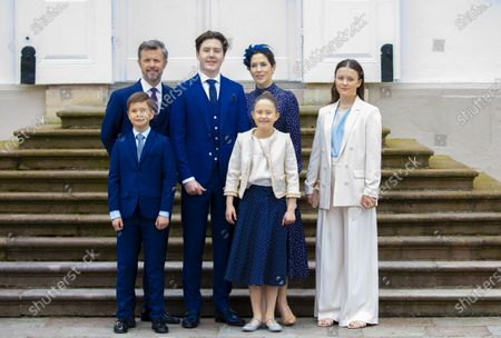 Stock Picture of Crown Princess Mary and Crown Prince Frederik and Prince Christian and Princess Isabella and Prince Vincent and Princess Josephine