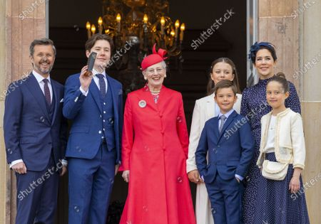 Crown Princess Mary and Crown Prince Frederik and Prince Christian and Princess Isabella and Prince Vincent and Princess Josephine and Queen Margrethe II