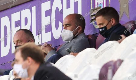 Belgium's head coach Roberto Martinez pictured during a soccer match between RSCA Royal Sporting Club Anderlecht and KRC Genk, Saturday 15 May 2021 in Anderlecht, on the fourth day of the 'Champions' play-offs' of the 'Jupiler Pro League' first division of the Belgian championship.