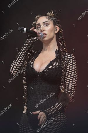 Mala Rodriguez performs live on stage during San Isidro 2021