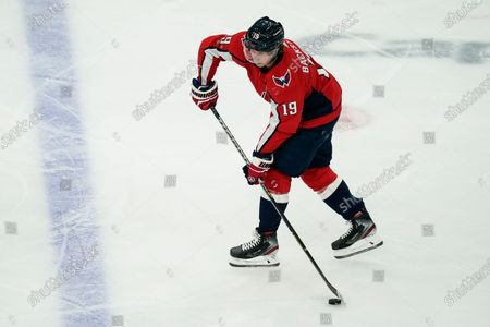 Stock Picture of Washington Capitals center Nicklas Backstrom (19) in action during the first period of Game 1 of an NHL hockey Stanley Cup first-round playoff series against the Boston Bruins, in Washington