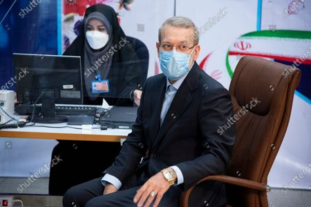 Stock Picture of Former  Speaker of the Parliament of Iran, Ali Larijani is registering for the presidential election 2021. Presidential elections are scheduled to be held in Iran in 18 june 2021.