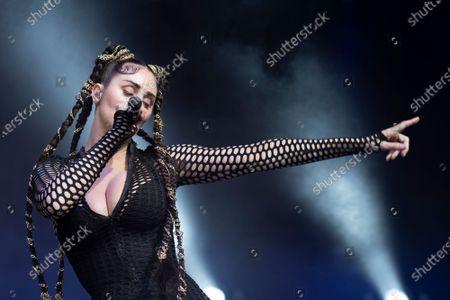 Editorial image of Mala Rodriguez in concert, El Matadero, Madrid, Spain - 15 May 2021
