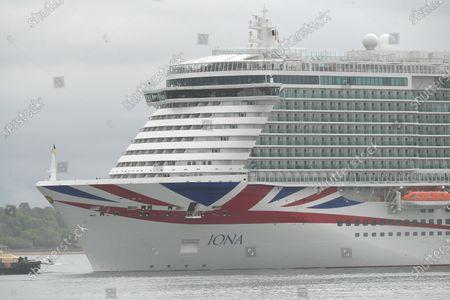 Editorial photo of P&O Iona arrives in Southampton, Hampshire, Southampton, UK - 16 May 2021