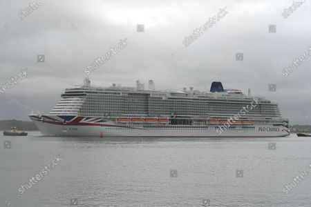 Editorial picture of P&O Iona arrives in Southampton, Hampshire, Southampton, UK - 16 May 2021