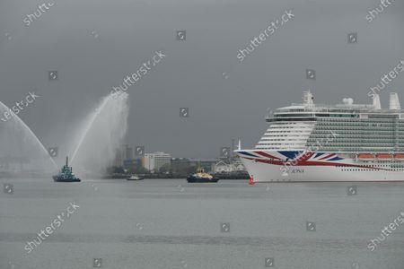 Editorial image of P&O Iona arrives in Southampton, Hampshire, Southampton, UK - 16 May 2021