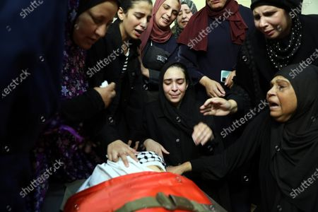 Editorial photo of Funeral in the West Bank after clashes between Palestinians and the Israeli army, Hebron - 16 May 2021