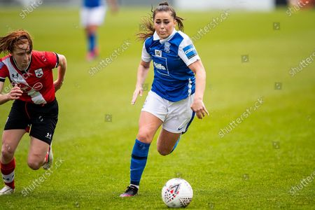 Jamie-Lee Napier of Birmingham City Women on wing during the Women's FA Cup match between Birmingham City Women and Southampton at Solihull Moors FC, Solihull