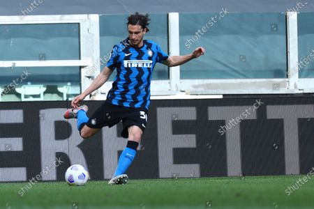Matteo Darmian of Fc Internazionale in action during the Serie A match between Juventus Fc and Fc Internazionale.