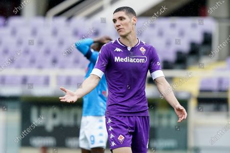 Nikola Milenkovic of ACF Fiorentina looks dejected during the Serie A match between ACF Fiorentina and SSC Napoli at Stadio Artemio Franchi, Florence, Italy on 16 May 2021.