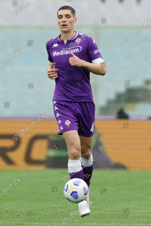 Nikola Milenkovic of ACF Fiorentina during the Serie A match between ACF Fiorentina and SSC Napoli at Stadio Artemio Franchi, Florence, Italy on 16 May 2021.