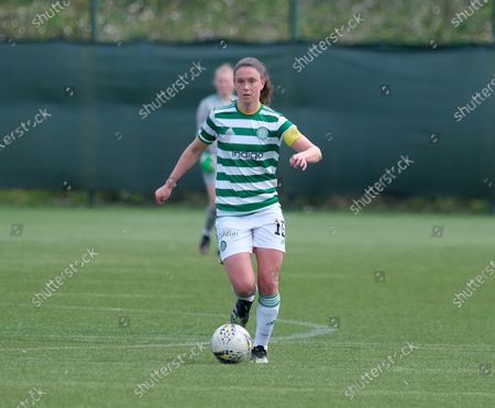 Kelly Clark of Celtic during the Scottish Womenâ€s Premier League 1 match between Hearts and Celtic at Oriam in Edinburgh, Scotland.