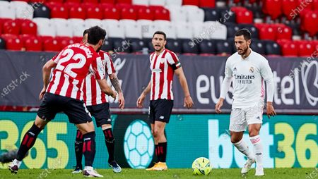 Stock Picture of Eden Hazard of Real Madrid CF during the Spanish league, La Liga Santander, football match played between Athletic Club and Real Madrid CF at San Mames stadium on May 16, 2021 in Bilbao, Spain.