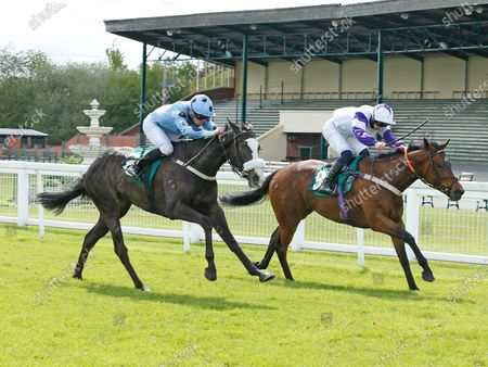 Stock Photo of Iris Dancer and Paddy Mathers Win the Affordable Ownership With Titanium Racing Handicap (Div II) Trained by R Mike Smith Owned by Auld Pals Ripon Racecourse