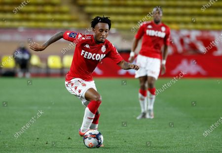 Gelson Martins of AS Monaco in action during the French Ligue 1 soccer match, AS Monaco vs Stade Rennais FC, at Stade Louis II, in Monaco, 16 May 2021.