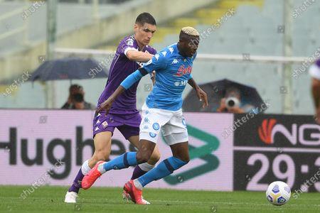"Victor Osimhen (Napoli)Nikola Milenkovic (Fiorentina)                                         during the Italian ""Serie A"" match between Fiorentina  0-2 Napoli  at Artemio Franchi Stadium in Florence, Italy."