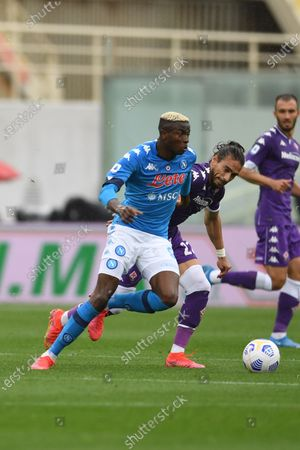 "Victor Osimhen (Napoli)Jose Martin Caceres Silva (Fiorentina)                                           during the Italian ""Serie A"" match between Fiorentina  0-2 Napoli  at Artemio Franchi Stadium in Florence, Italy."
