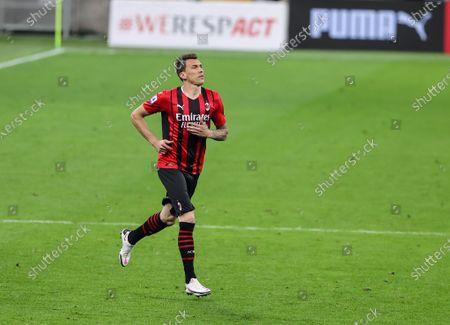 Mario Mandzukic of AC Milan in action