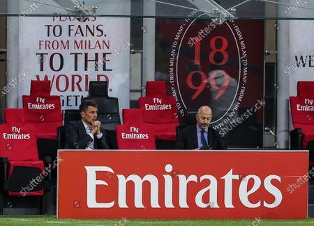 Paolo Maldini Technical Area Director of AC Milan and Ivan Gazidis A.D. of AC Milan