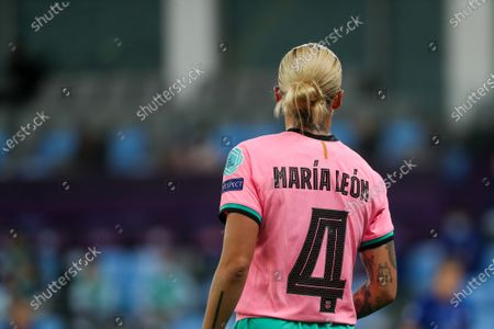 Maria Leon (4 Barcelona) looks on during the UEFA Womens Champions League FINAL 2021between Chelsea FC and FC Barcelona at Gamla Ullevi in Gothenburg, Sweden.