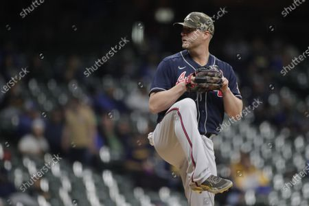 Editorial picture of Braves Brewers Baseball, Milwaukee, United States - 15 May 2021