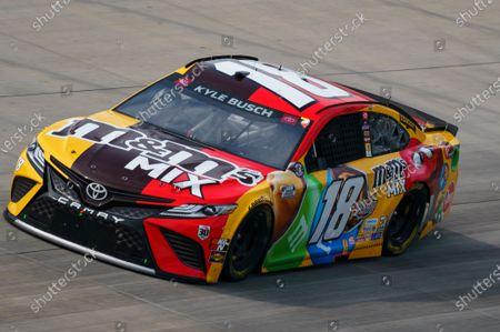 Kyle Busch in action during a NASCAR Cup Series auto race at Dover International Speedway, in Dover, Del