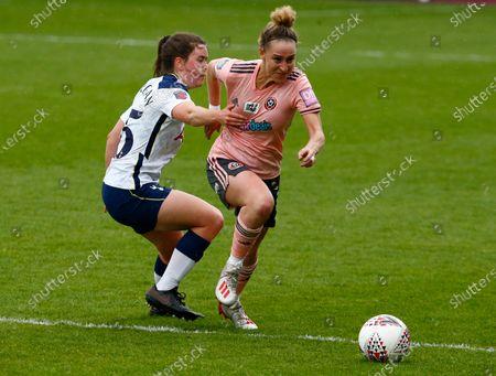 Editorial photo of Tottenham Hotspur Women v Sheffield United - Vitality Women's FA Cup Fifth Round Proper, Edgware, United Kingdom - 16 May 2021