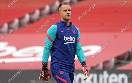 Marc-Andre ter Stegen during the match between FC Barcelona and Real Club Celta, corresponding to the week 37 of the Liga Santander, played at the Camp Nou Stadium on 16th May 2021, in Barcelona, Spain.  --