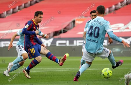 Leo Messi during the match between FC Barcelona and Real Club Celta, corresponding to the week 37 of the Liga Santander, played at the Camp Nou Stadium on 16th May 2021, in Barcelona, Spain.  --