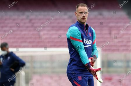 Stock Image of Marc-Andre ter Stegen during the match between FC Barcelona and Real Club Celta, corresponding to the week 37 of the Liga Santander, played at the Camp Nou Stadium on 16th May 2021, in Barcelona, Spain.  --