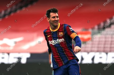 Stock Photo of Leo Messi during the match between FC Barcelona and Real Club Celta, corresponding to the week 37 of the Liga Santander, played at the Camp Nou Stadium on 16th May 2021, in Barcelona, Spain.  --