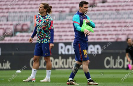 Leo Messi and Antoine Griezmann during the match between FC Barcelona and Real Club Celta, corresponding to the week 37 of the Liga Santander, played at the Camp Nou Stadium on 16th May 2021, in Barcelona, Spain.  --