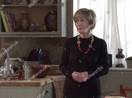 Coronation Street - Ep 10335 Wednesday 26th May 2021 - 1st Ep When Cathy Matthews finds Elaine Jones, as played by Paula Wilcox, and Brian Packham searching her room Cathy is forced into admitting to Brian that her hoarding is out of control again and she's ashamed.