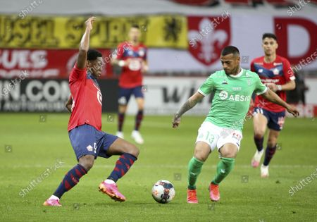 Jonathan David of Lille, Miguel Trauco of Saint-Etienne