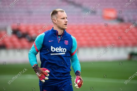 Stock Picture of Marc-Andre ter Stegen of FC Barcelona warms up