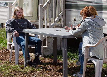 Emmerdale - Ep 9055 Monday 24th May 2021 Liv Flaherty, as played by Isobel Steele, finally finds her mum at the caravan park and she's appalled to discover Sandra Flaherty's, as played by Joanne Mitchell, been back in the UK for a few months without bothering to make contact with her. Liv struggles to get her mum to pay any attention to her troubles but when Sandra produces some booze, Liv's tempted to drown her sorrows anew.