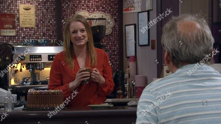 Emmerdale - Ep 9064 Thursday 3rd June 2021 Jimmy King, as played by Nick Miles, and Nicola King, as played by Nicola Wheeler, are excited to be having Carl back but it will take a lot more to heal the rift between them.