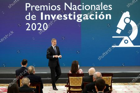 Editorial picture of Spanish Royals attend delivery of the 2020 National Research Awards, Madrid, Spain - 17 May 2021