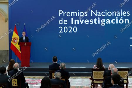 Editorial photo of Spanish Royals attend delivery of the 2020 National Research Awards, Madrid, Spain - 17 May 2021