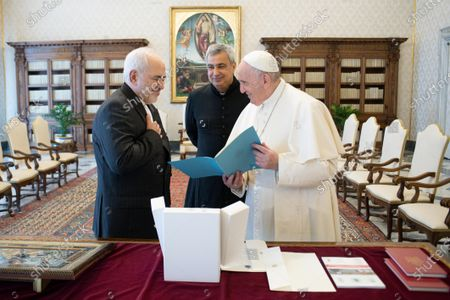 Editorial picture of Pope Francis meets Iranian Minister of Foreign Affairs Mohammad Javad Zarif, Vatican City, Italy - 17 May 2021