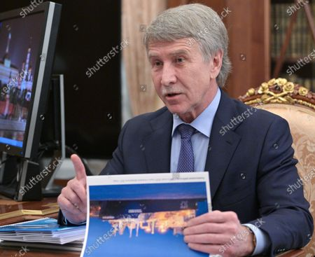 Editorial image of Chairman of the Management Board of Novatek Leonid Mikhelson, Moscow, Russian Federation - 17 May 2021