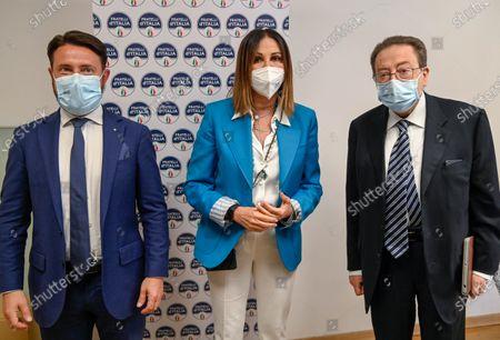 Stock Image of Paolo Franco, Riccardo De Corato and Daniela Santanche