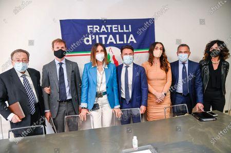 Paolo Franco, Riccardo De Corato, Daniela Santanche, Patrizia Baffi, Barbara Mazzali, Franco Lucente