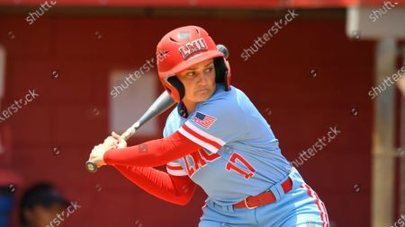 Stock Picture of Loyola Marymount Lions Megan Martin #17 during an NCAA softball game, in Los Angeles