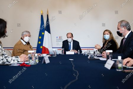 French Minister for Territorial Cohesion and Relations with Local Government Jacqueline Gourault, French Minister for Territorial Cohesion and Relations with Local Government Nadia Hai meets with French prime minister and presidents of France Urbaine metropole before signing an agreement with France Urbaine in Paris