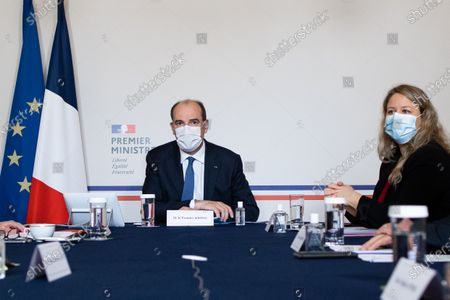 French Prime Minister Jean Castex, French Minister Delegate for Urban Affairs, attached to the Minister for Territorial Cohesion and Relations with Local Government Nadia Hai meets with presidents of France Urbaine metropole before signing an agreement with France Urbaine in Paris