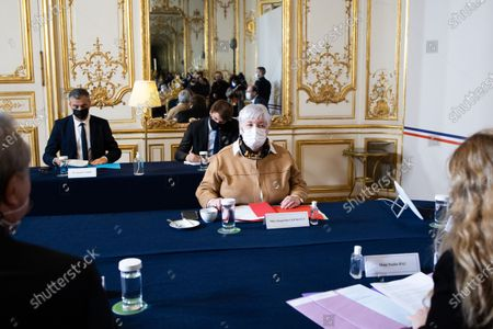 French Minister for Territorial Cohesion and Relations with Local Government Jacqueline Gourault meets with French prime minister and presidents of France Urbaine metropole before signing an agreement with France Urbaine in Paris