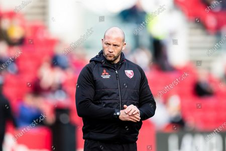 Head Coach George Skivington of Gloucester Rugby ahead of the Gallagher Premiership Rugby match between Bristol Rugby and Gloucester Rugby at Ashton Gate, Bristol