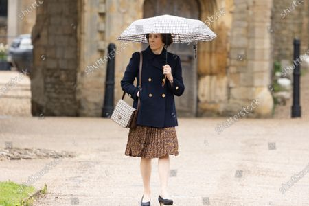 Stock Picture of HMRC Drive Dame Lady Mary Archer out of court to collect her car before apperaing in court.Dame Lady Mary Archer arriving at Peterborough Knights Hall, a Temporary nightingale court in the grounds of Peterborough Cathedral in the case of Lady Lavinia Nourse