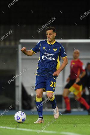 "Nikola Kalinic (Hellas Verona)          during the Italian ""Serie A"" match between Hellas Verona 2-2 Bologna  at  Marc Antonio Bentegodi Stadium in Verona, Italy."